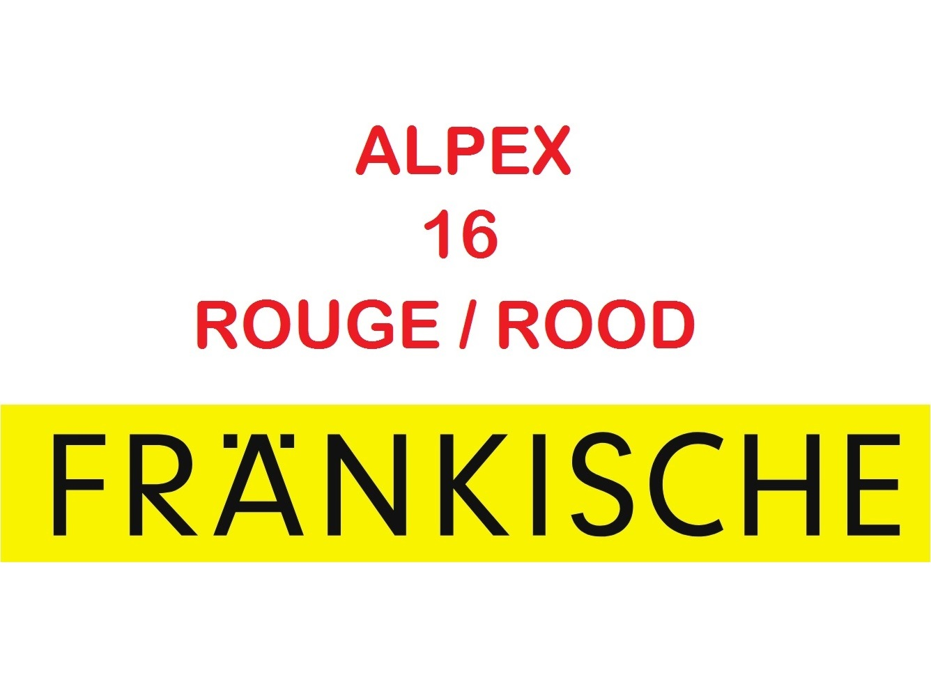 Multicouche Alpex 16x2 50 m GAINE ROUGE