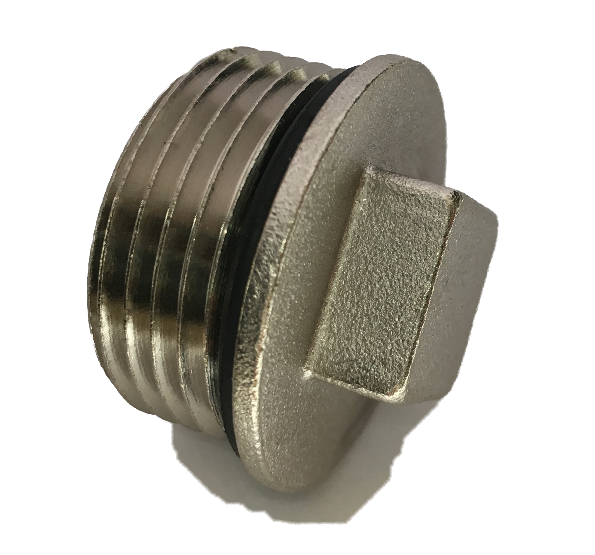 Brass Male Plug 4/4M w/ oring Nickelplated