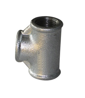 Malleable Iron Reducing Tee 1/2Fx3/4Fx1/2F Nickel