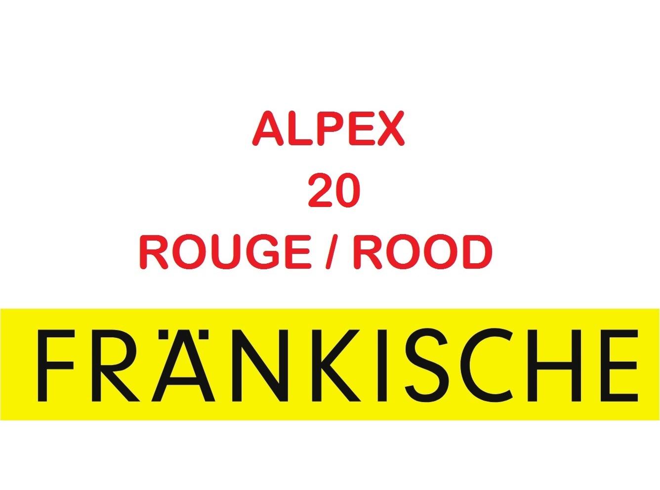 Multicouche Alpex 20x2 50 m GAINE ROUGE