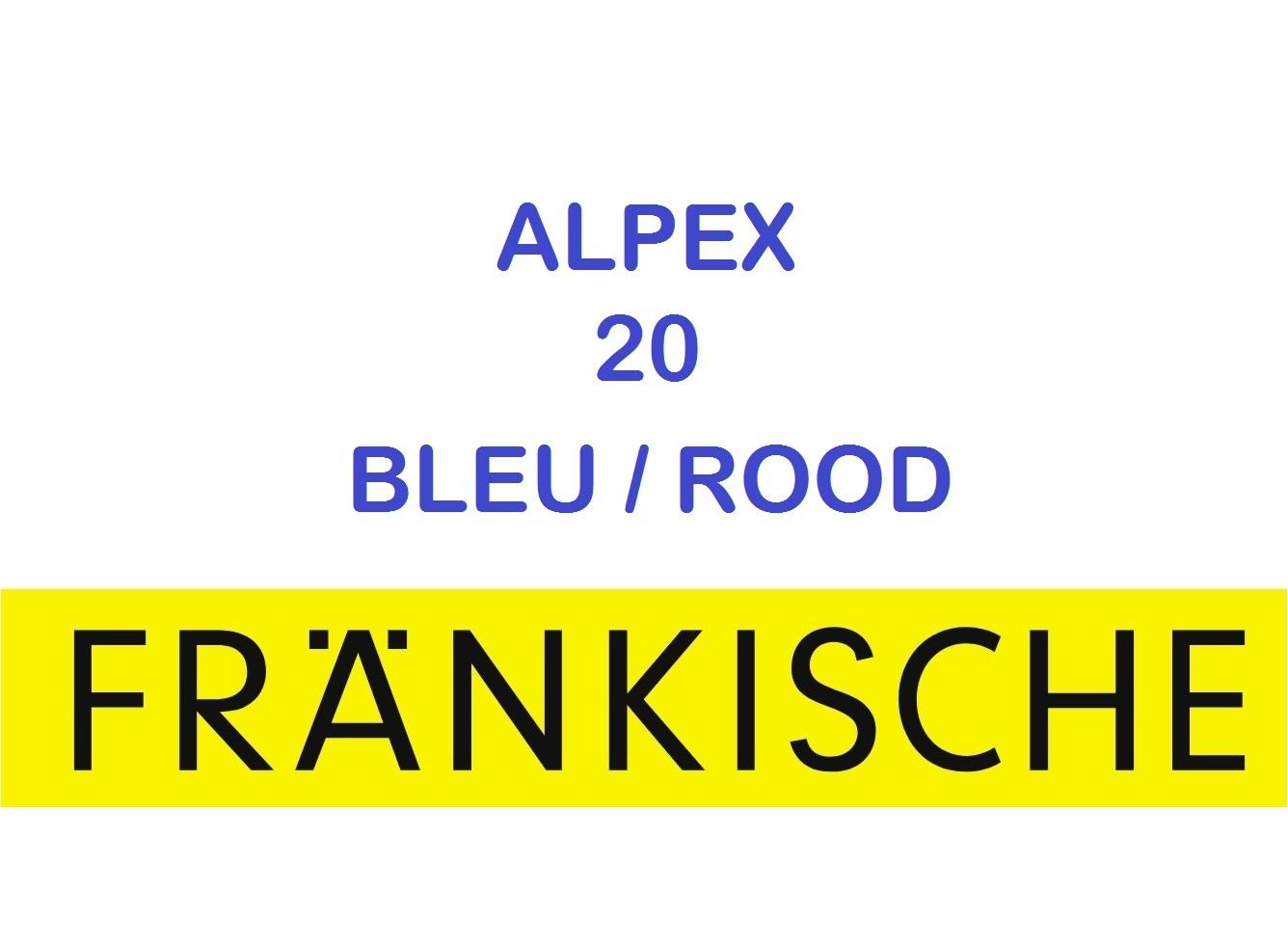 Multicouche Alpex 20x2 50 m GAINE BLEU