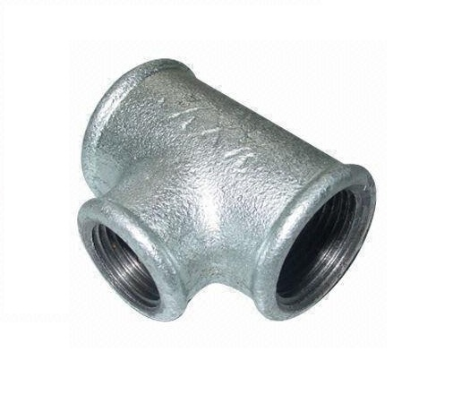 Malleable Iron Reducing Tee 3/4Fx1/2Fx3/4F Nickel
