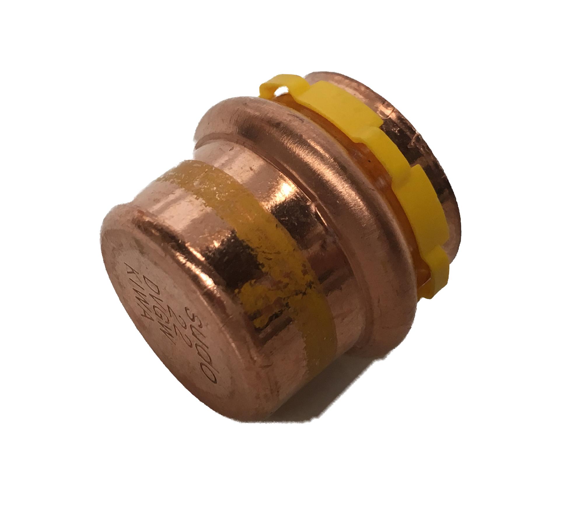 Bouchon à sertir Cuivre Sudopress GAZ 15 profil-V