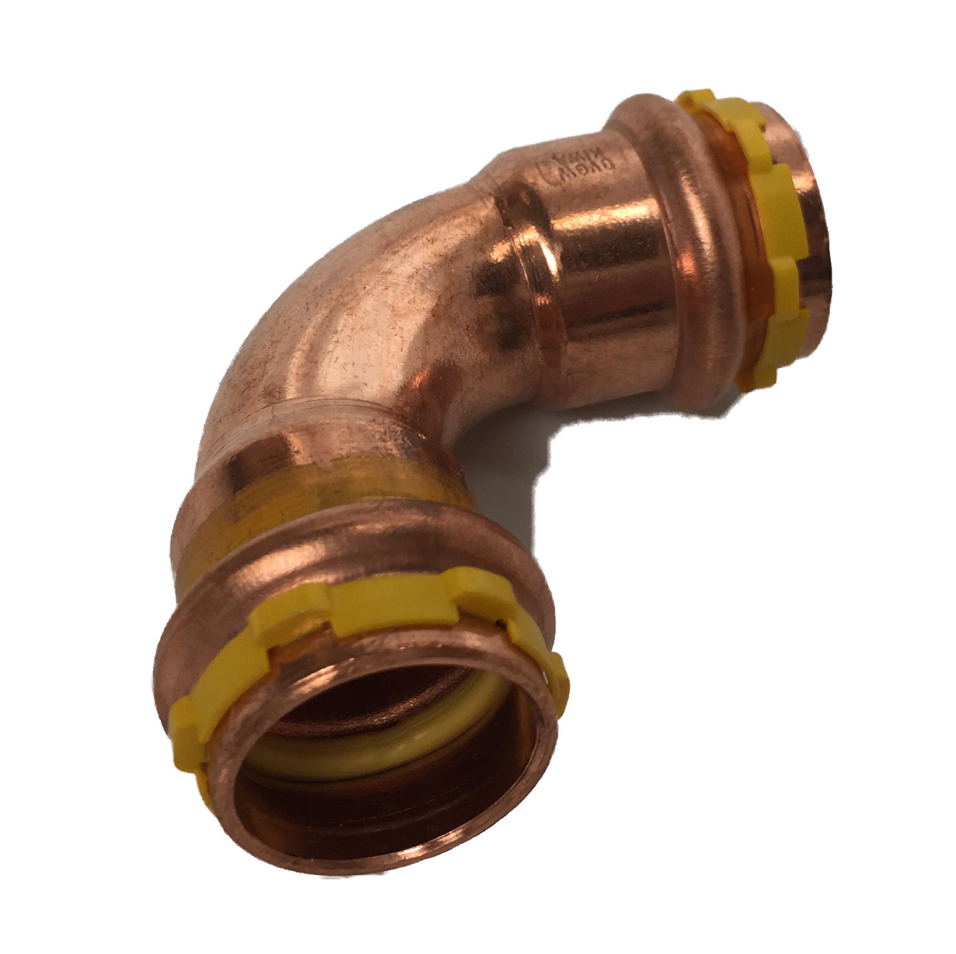 Courbe 90° FF à sertir Cuivre Sudopress GAZ 18x18 profil-V