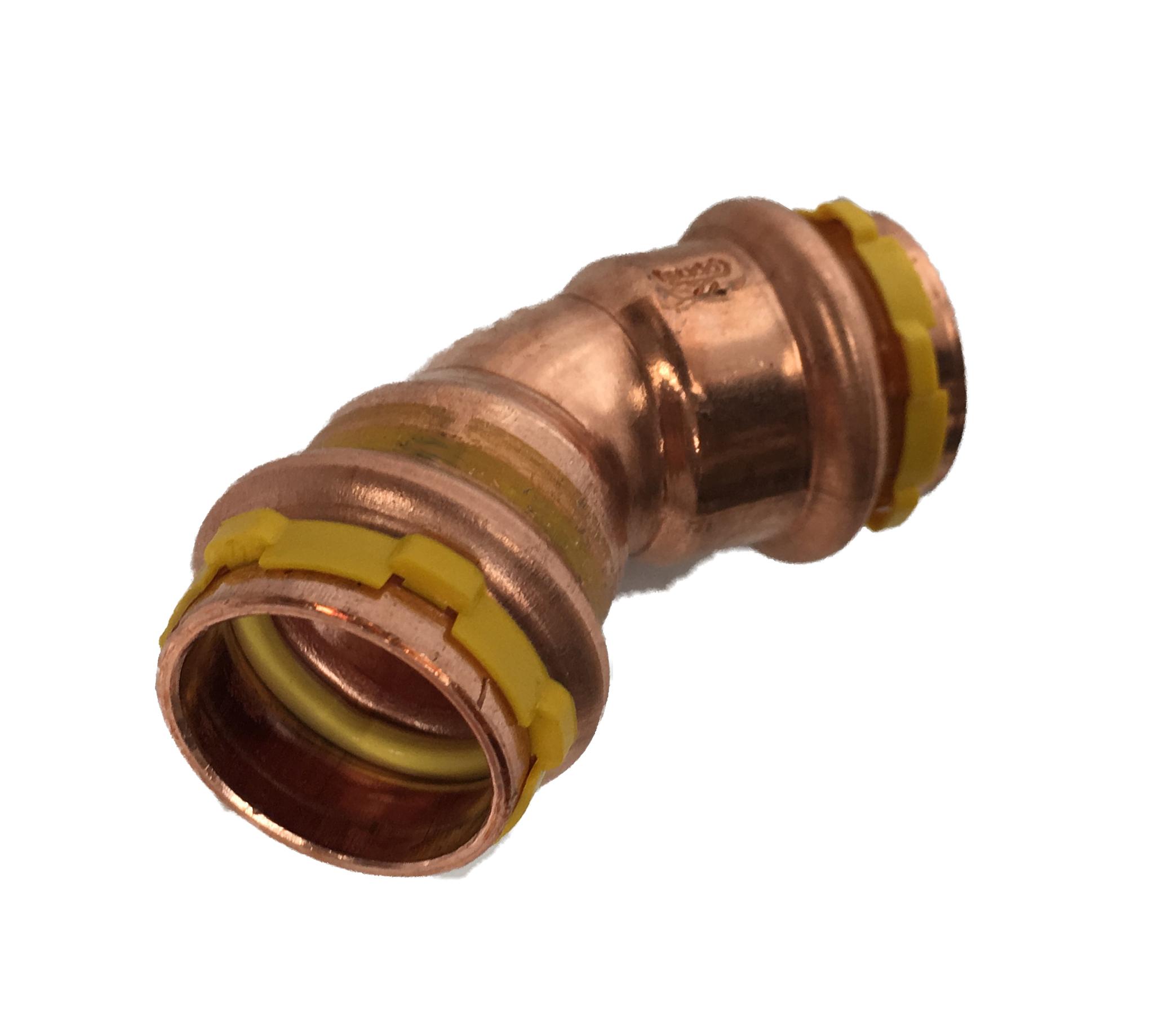 Courbe 45° FF à sertir Cuivre Sudopress GAZ 15x15 profil-V