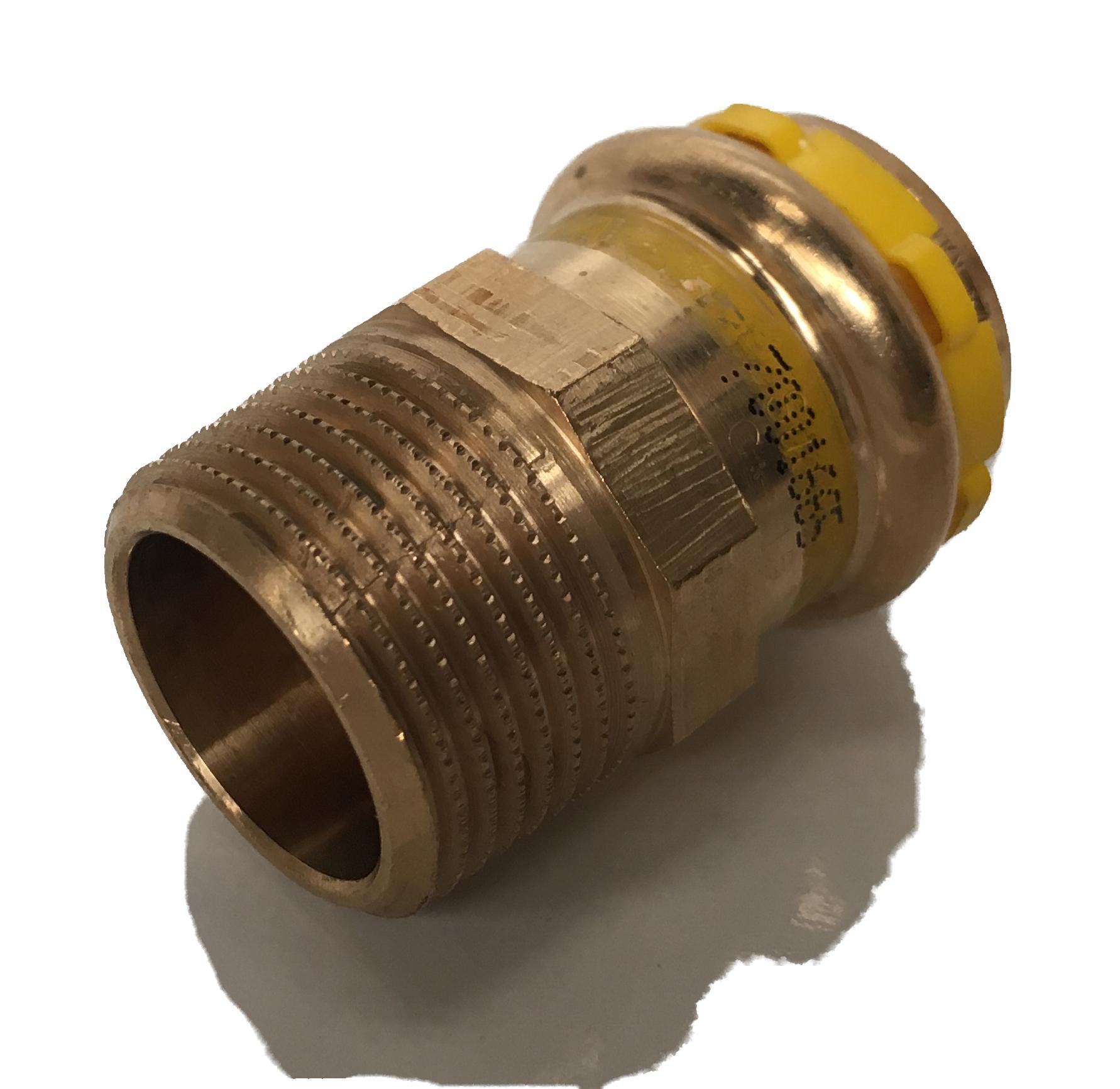 Straight fitting Copper Sudopress Press GAS 22x4/4M V-profile