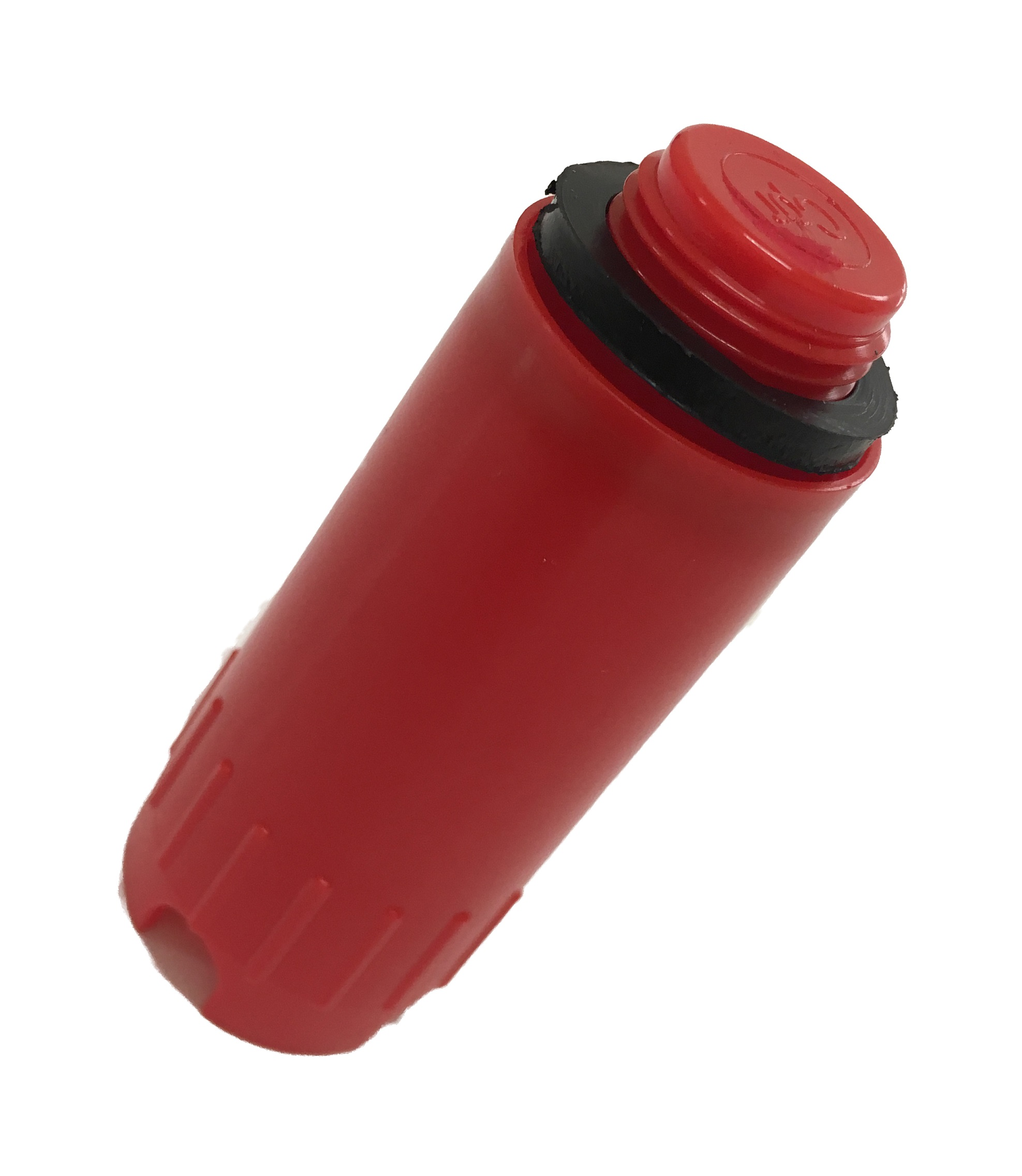 Test plug 1/2M with oring - Red
