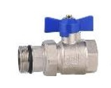 Union Ball Valve w/ Butterfly 1/2 MxF Blue