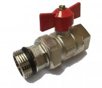 Union Ball Valve w/ Butterfly 3/4 MxF Red