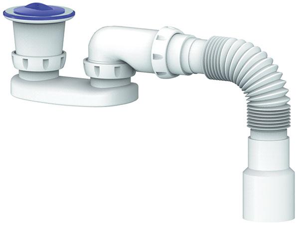 Set Shower Bottle trap Flexibe hose 40/50 waste