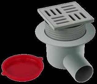 Floor trap PVC 10x10 Horizontal 50 mm Adjustable