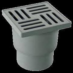 Floor trap SS 15x15 Vertical 100 mm