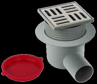 Floor trap SS 10x10 Horizontal 50 mm Adjustable