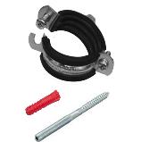 "SET Single PRO Pipe clamp M8 1/2"" 20-23 + Screw + plug"