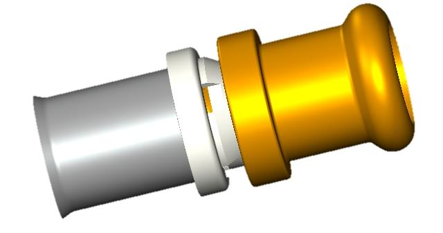 Adapteur PEXXA à sertir Cuivre EAU 15x16 profil-V
