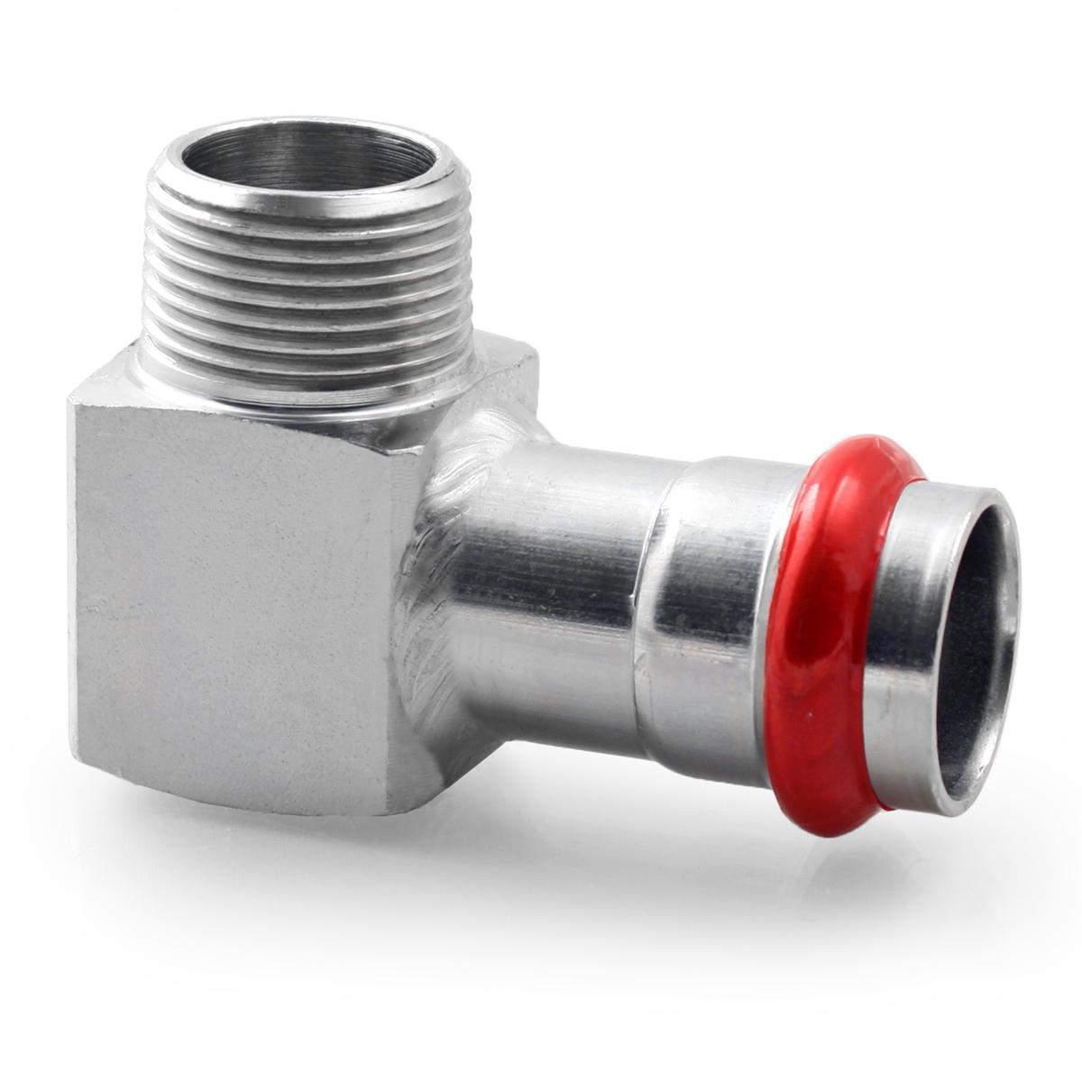 Press Steel Elbow Male 3/4Mx22