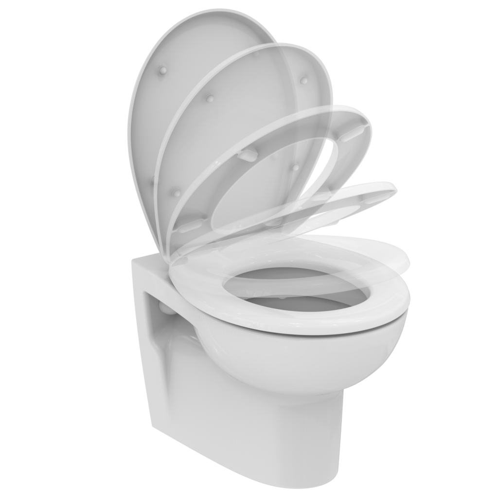Wall-hung Porcher Ceramic toilet + softclose seat Keops