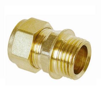 Water compression Straight Male 3/4Mx18