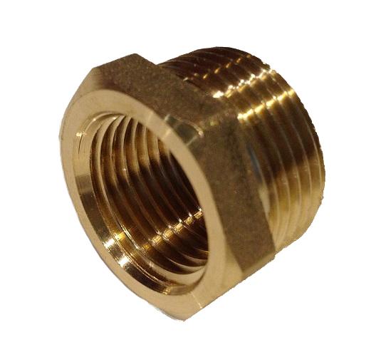 Brass Reduction 3/4M x 3/8F