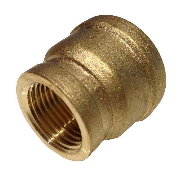 Brass Female Straight 3/4F x 1/2F