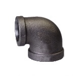 Malleable Iron Reducing Elbow 3/4Fx1/2F Black