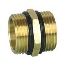 Brass Nipple 4/4 MxM w/ oring