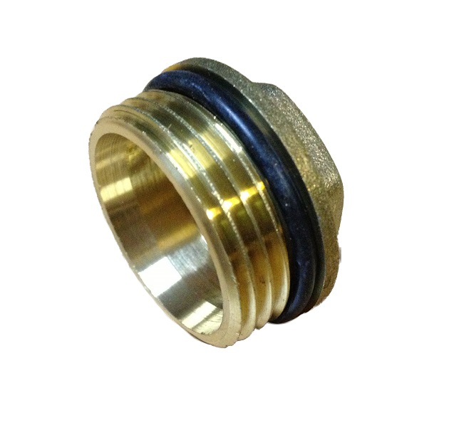 Brass Male Plug 4/4M w/ oring