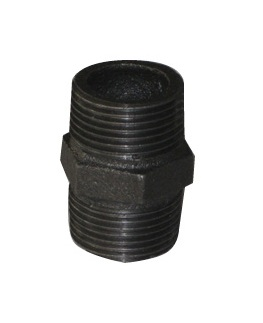 Malleable Iron Nipple 4/4Mx4/4M Black