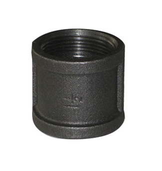 Malleable Iron Coupling 1/2Fx1/2F Black