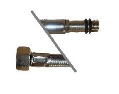 Braided Hose Stainless steel 3/8FxM10 60 cm