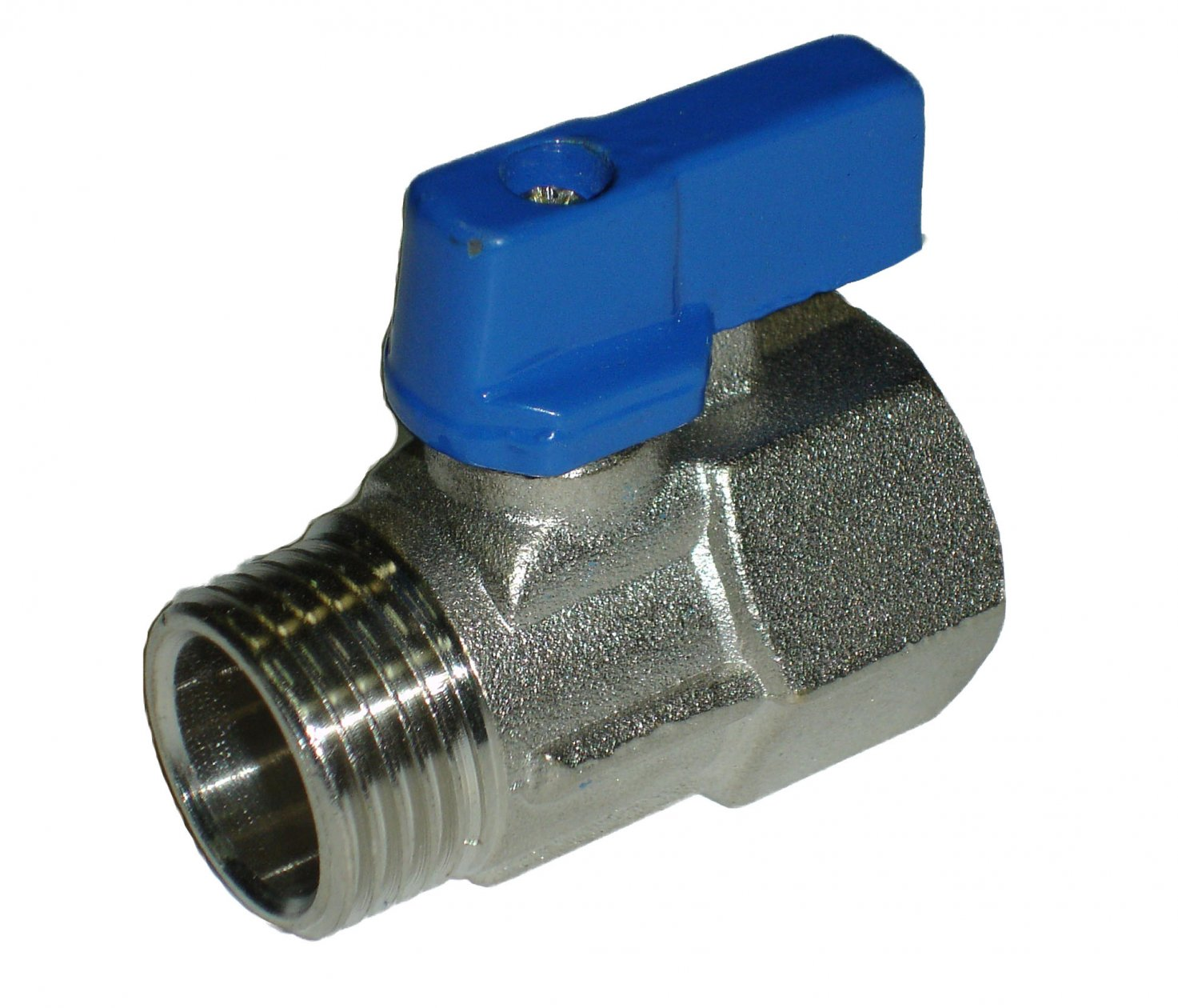Mini Ball Valve 1/2MxF Blue