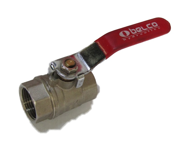 Ball Valve w/ Handle 3/4 FxF Red