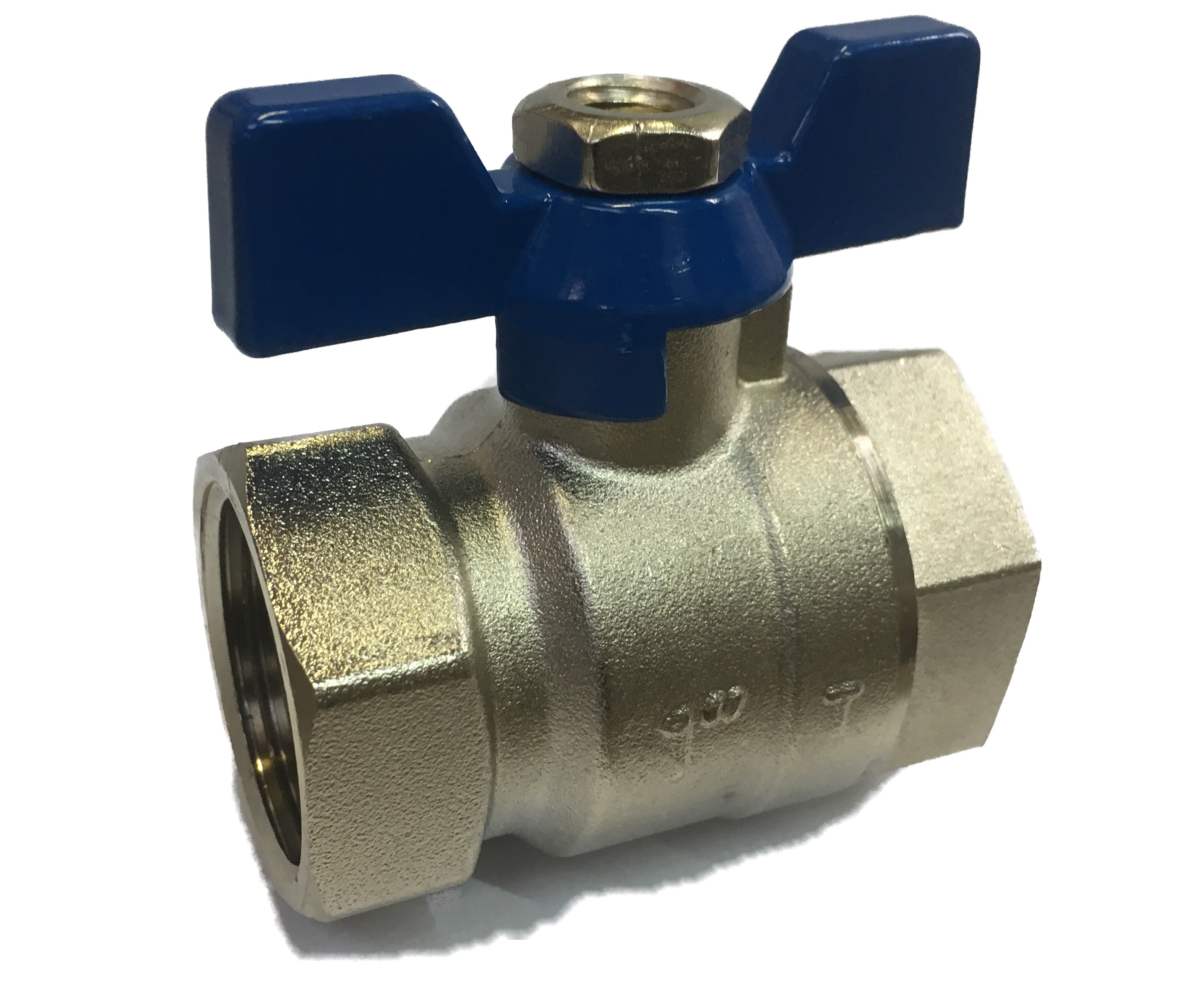 Ball Valve w/ Butterfly 4/4 FxF Blue
