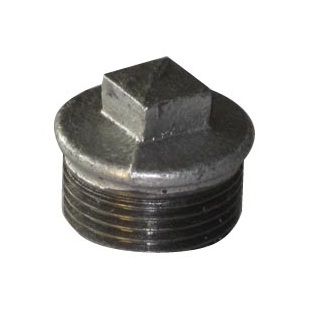 Malleable Iron Plug 1/2M Nickel